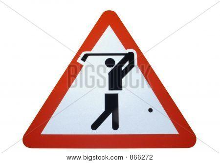 Warning! Golfers.