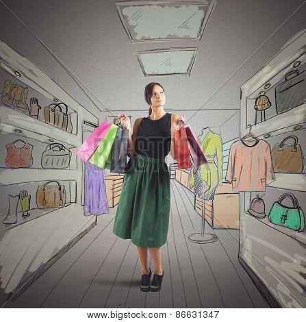 Girl goes shopping