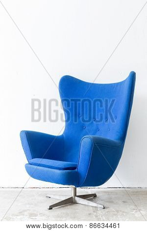 modern Blue Chair contemporary style in vintage room