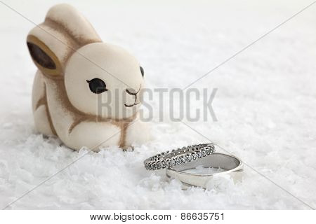 Rabbit And Engagement Rings