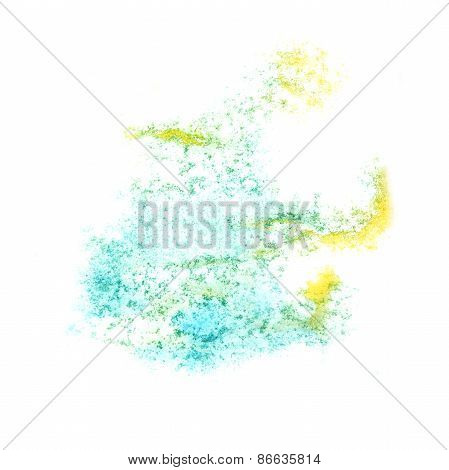 Abstract yellow,grey  watercolor background for   your design in