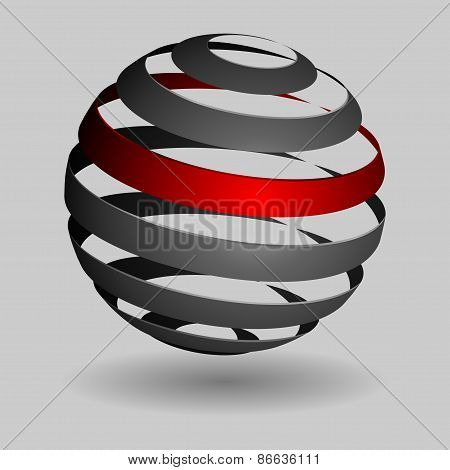 Grey glossy spheres isolated. Vector illustration