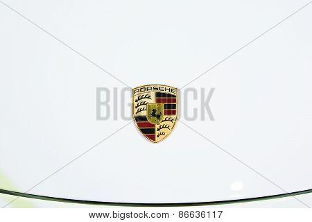 Bangkok - March 26 : Logo Of Porsche On New Cayman, Sport Car, On Display At 36Th Bangkok Internatio