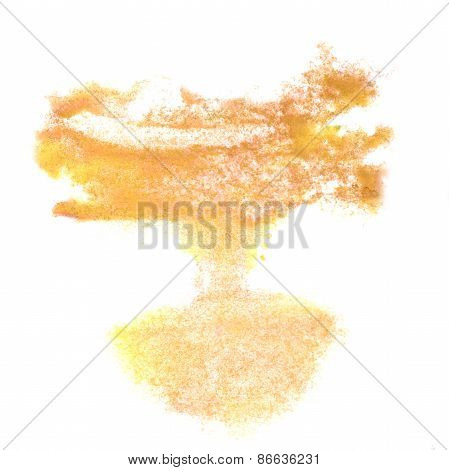 Abstract brown watercolor background for your design insult