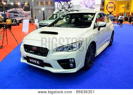 Bangkok - March 26 : New Subaru Wrx On Display At 36Th Bangkok International Motor Show On March 26,