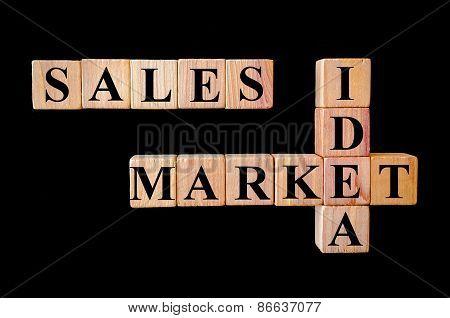 Sales Market Idea.business Sales Concept Image.