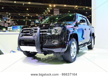 Bangkok - March 26 : New Volkswagen Amarok , Pick Up Truck, On Display At 36Th Bangkok International