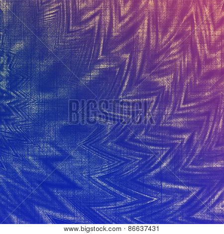 Old grunge textured background. With different color patterns: purple (violet); blue; pink