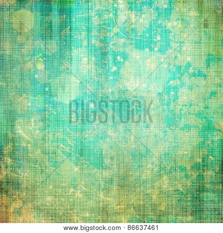 Antique vintage textured background. With different color patterns: yellow (beige); green; cyan; blue