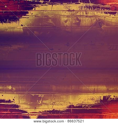 Abstract rough grunge background, colorful texture. With different color patterns: purple (violet); red (orange); yellow (beige)