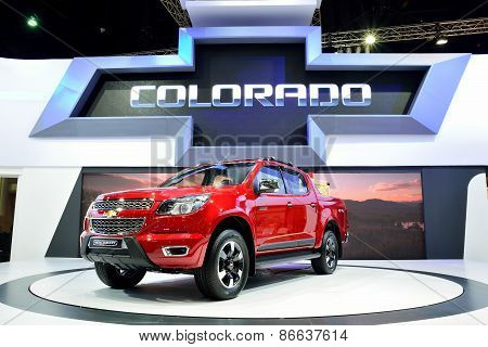 Bangkok - March 26 : New Chevrolet Colorado High Country, 4Wd Pick Up Truck, On Display At 36Th Bang