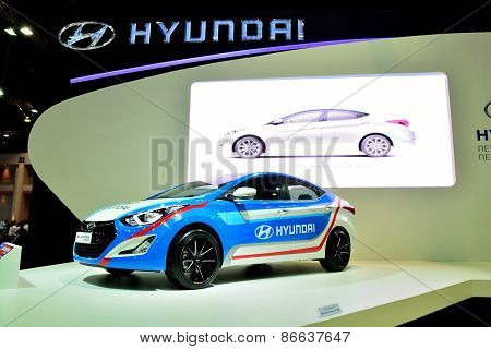Bangkok - March 26 : Hyundai Elantra Sport Edition On Display At 36Th Bangkok International Motor Sh