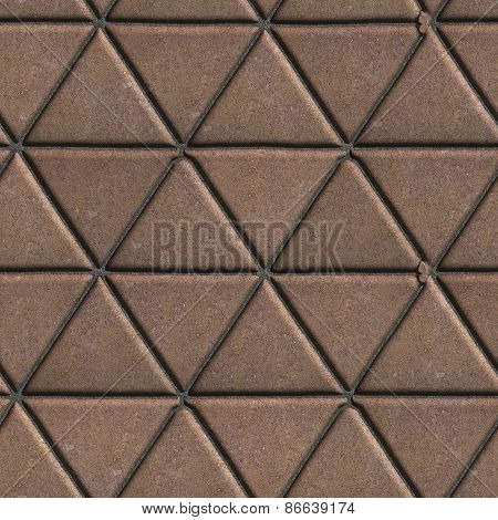 Paving Slabs Brown Pattern of Small Triangles.