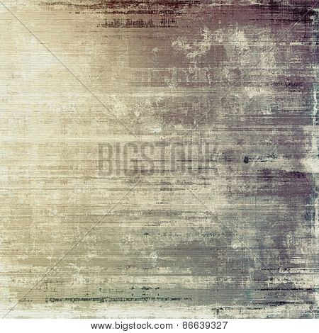 Old designed texture as abstract grunge background. With different color patterns: yellow (beige); brown; gray
