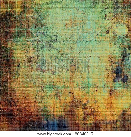 Designed background in grunge style. With different color patterns: yellow (beige); brown; green; blue