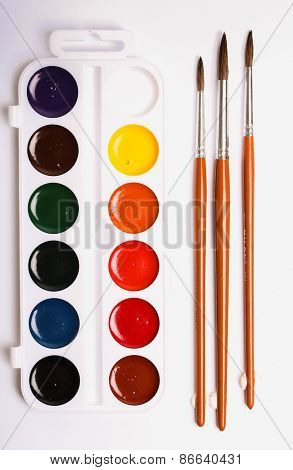 Colors, art. Colorful watercolor paint