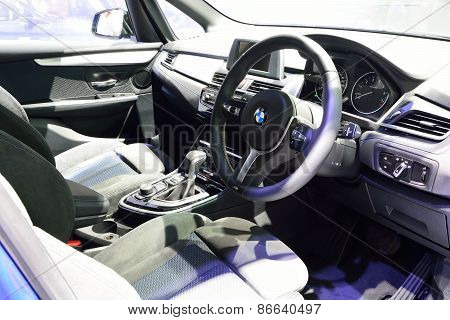 Bangkok - March 26 : Interior Design Of Passenger Room Of Bmw 218I Active Tourer On Display At 36Th