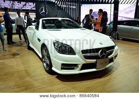 Bangkok - March 26 : Mercedes Benz Slk 200 Carbon Look, Sport Convertible Car, On Display At 36Th Ba