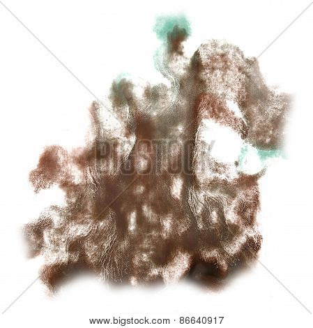 Abstract brown,green watercolor hand painted background insult R