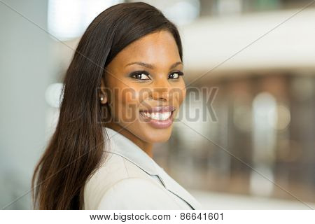 smart african american businesswoman close up portrait