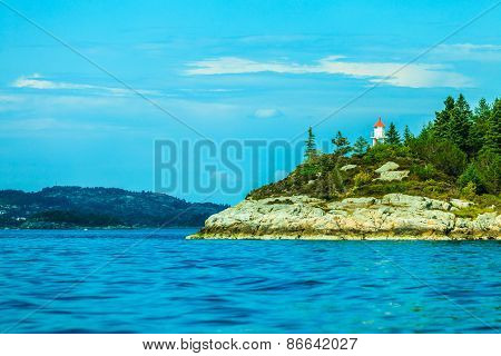 Tourism And Travel. Water And Islands Around Bergen
