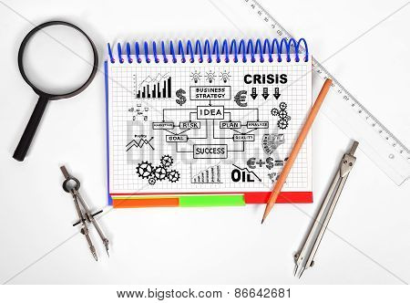 Notepad With Business Plan