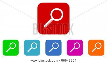 search vector icons set