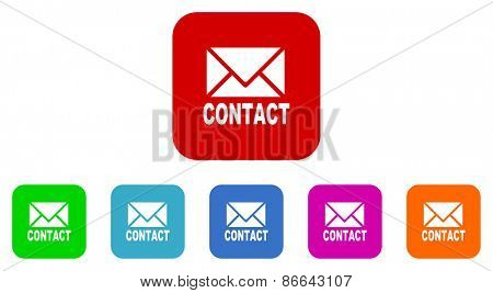 email vector icons set
