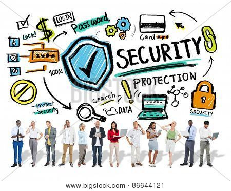 Ethnicity People Discussion Digital Communication Security Protection Concept