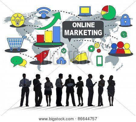 Online Marketing Global Business Concept