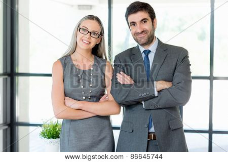 Two collegues in an office