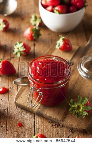 Homemade Organic Strawberry Jelly