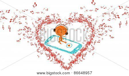 music is my soul in heart background