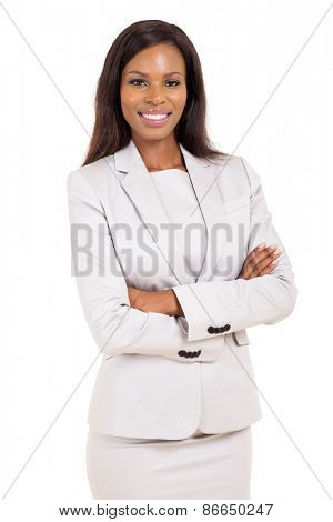 portrait of attractive young african american career woman