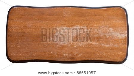 wood signboard isolated with clipping path included