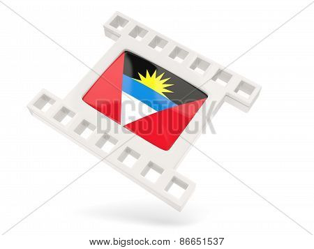 Movie Icon With Flag Of Antigua And Barbuda