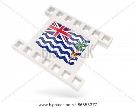 Movie Icon With Flag Of British Indian Ocean Territory