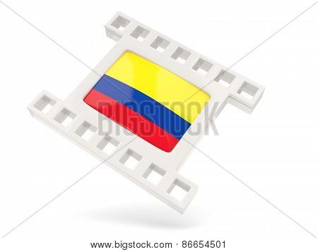 Movie Icon With Flag Of Colombia