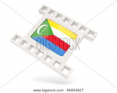 Movie Icon With Flag Of Comoros