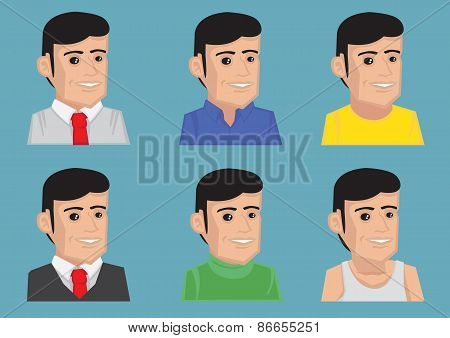Men Fashion And Outfits Vector Cartoon Illustration