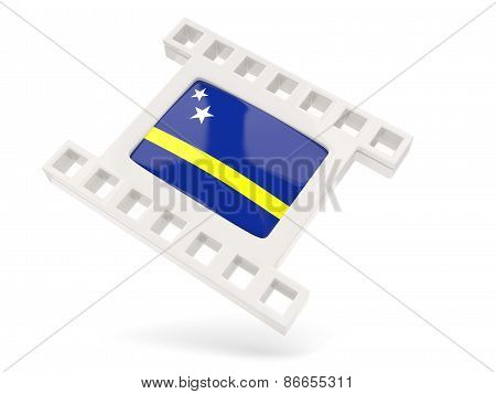 Movie Icon With Flag Of Curacao