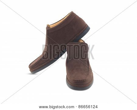 Brown Leather Mens Shoes