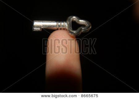 Keys and finger