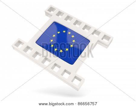Movie Icon With Flag Of European Union