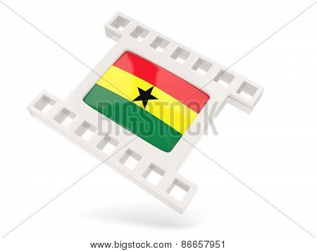 Movie Icon With Flag Of Ghana