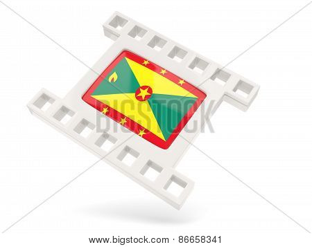 Movie Icon With Flag Of Grenada