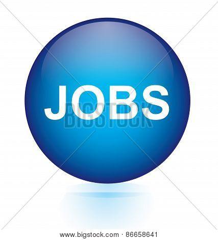 Jobs blue circular button