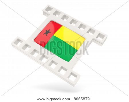 Movie Icon With Flag Of Guinea Bissau
