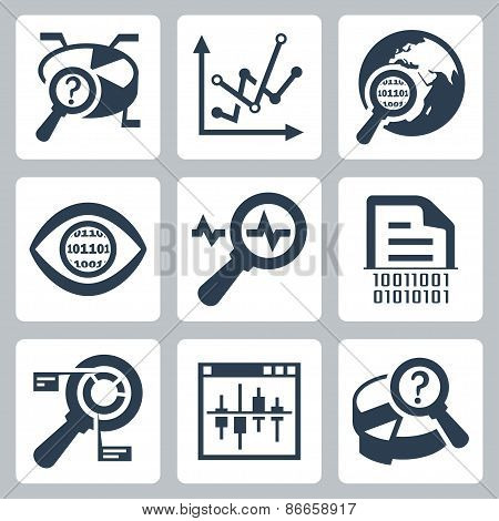 Vector Data Analysis Icon Set