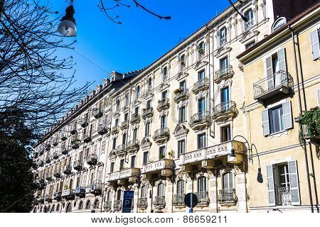 Houses in the Quadrilatero Romano in Turin